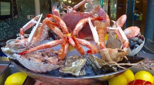 Морепродукты в Париже