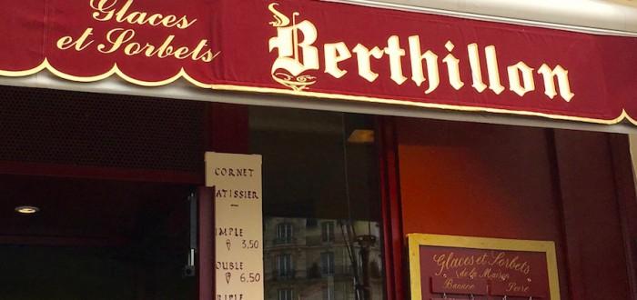 Вывеска мороженого Berthillon