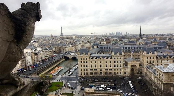 Подъем на башни Собора Парижской Богоматери